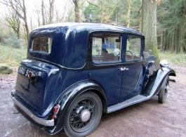 Vintage wedding car in Birmingham